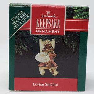 Hallmark 1991 Loving Stitches Ornament